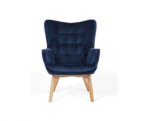 Furniture Line Dean Blue Fabric Accent Chair