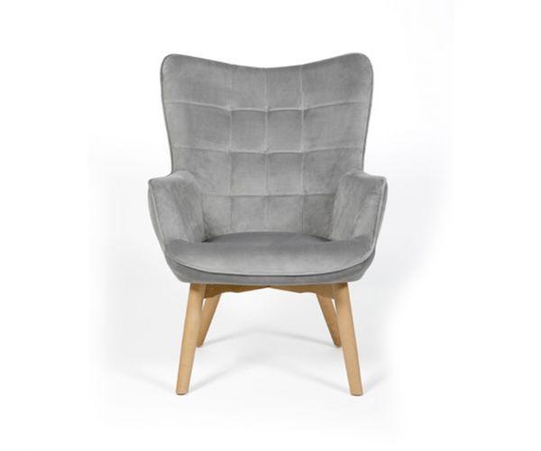 Furniture Line Dean Grey Fabric Accent Chair