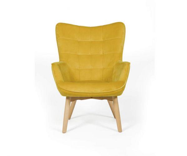 Furniture Line Dean Ochre Fabric Accent Chair