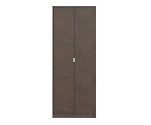 Welcome Furniture Diego Copper Finish 2 Door Wardrobe with Gold Metal Legs