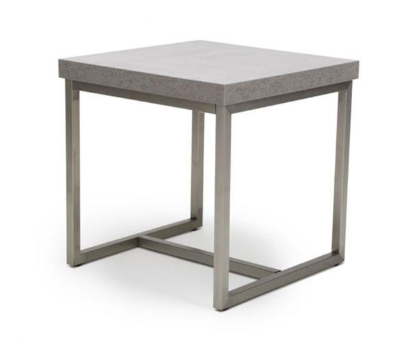 Furniture Line Delta Melamine Concrete End Table