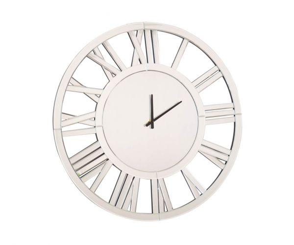 Derrys Furniture Mirrored Round Wall Clock