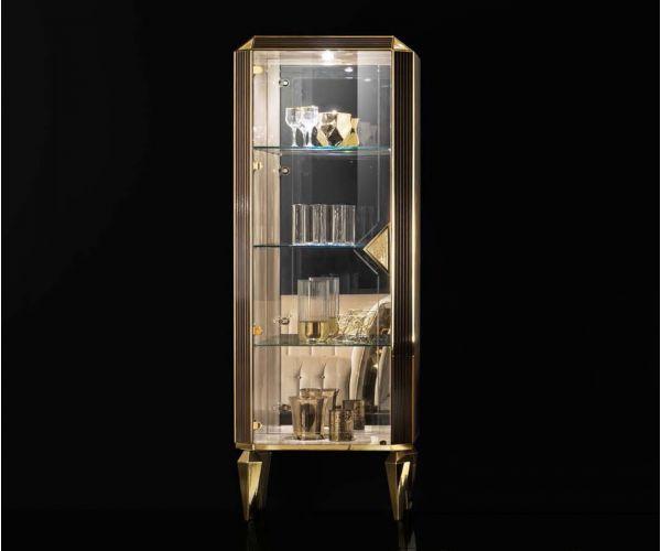 Adora Sipario Italian 1 Door Display Cabinet
