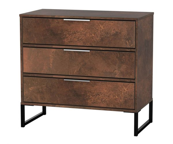 Welcome Furniture Diego Copper Finish 3 Drawer Chest