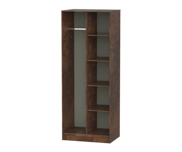 Welcome Furniture Diego Copper Finish Open Shelf Wardrobe