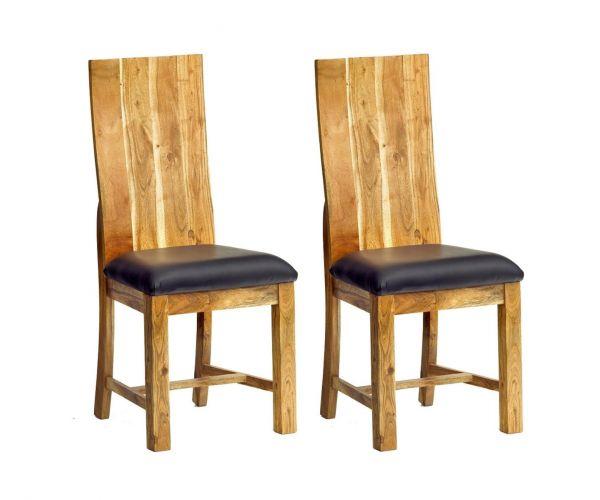 Indian Hub Metropolis Industrial Dining Chair in Pair