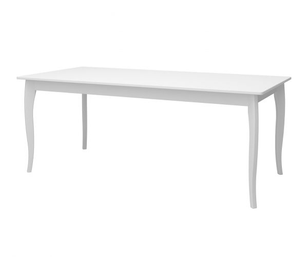 Steens Baroque White Rectangular Dining Table Only