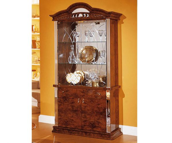 Dima Mobili Diva Walnut 2 Door Display Cabinet