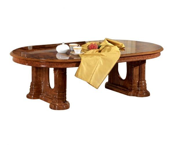 Ben Company Divina Walnut Finish Italian Coffee Table