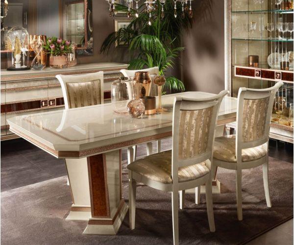 Arredoclassic Dolce Vita Italian Rectangular Fix Top Dining Table