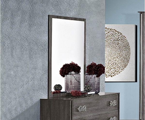 MCS Dover Grey Finish Italian Dresser Mirror