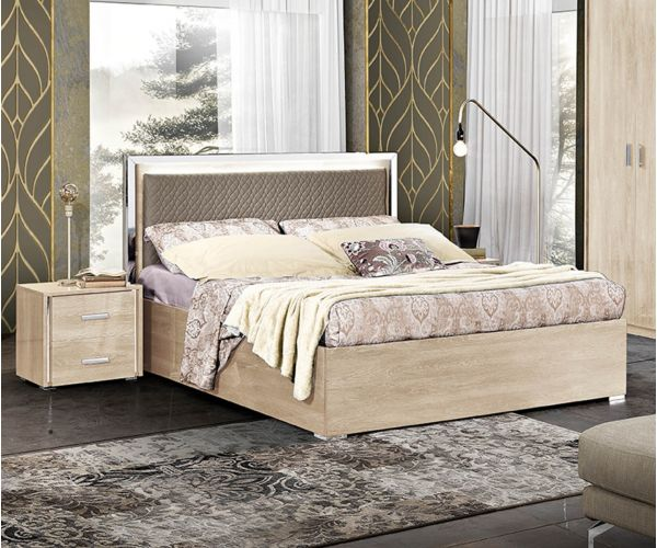 MCS Dover Cream Finish Italian Storage Bed Frame