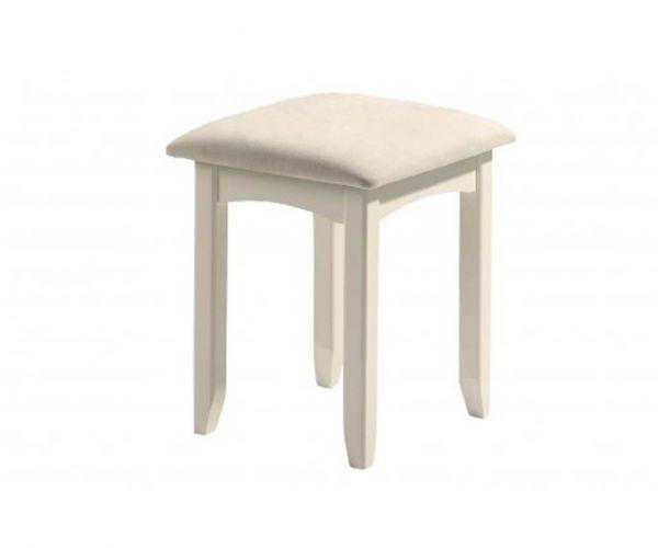 Julian Bowen Cameo Stone White Dressing Table Stool