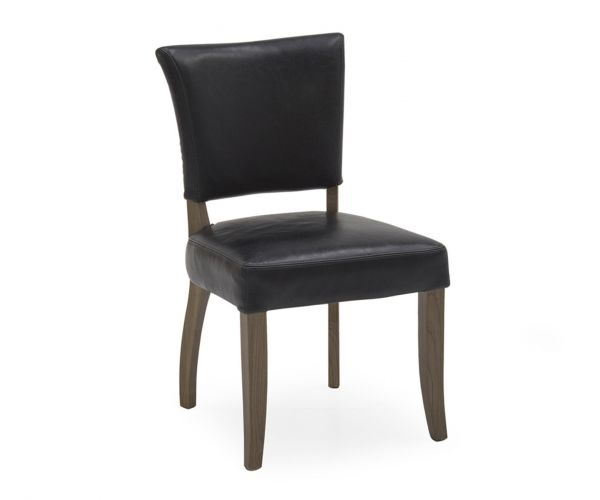 Vida Living Duke Ink Blue Leather Dining Chair