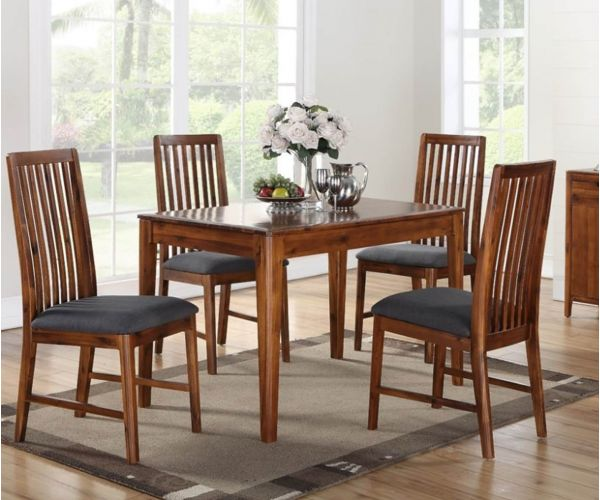 Annaghmore Dunmore Acacia 4ft Dining Table with 4 Chairs
