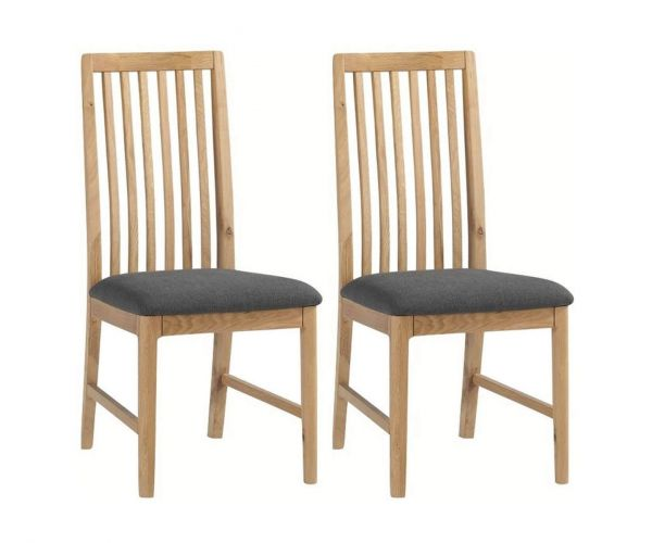 Annaghmore Dunmore Oak Dining Chair in Pair