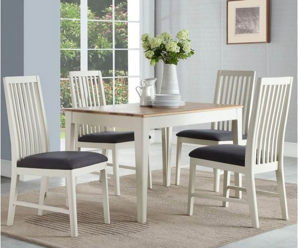 Annaghmore Dunmore Painted 4ft Dining Table with 4 Chairs