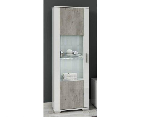 SM Italia Doyline 1 Door Display Cabinet