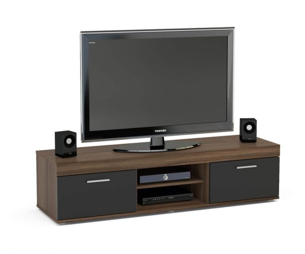 Birlea Furniture Edgeware Walnut and Black TV Unit