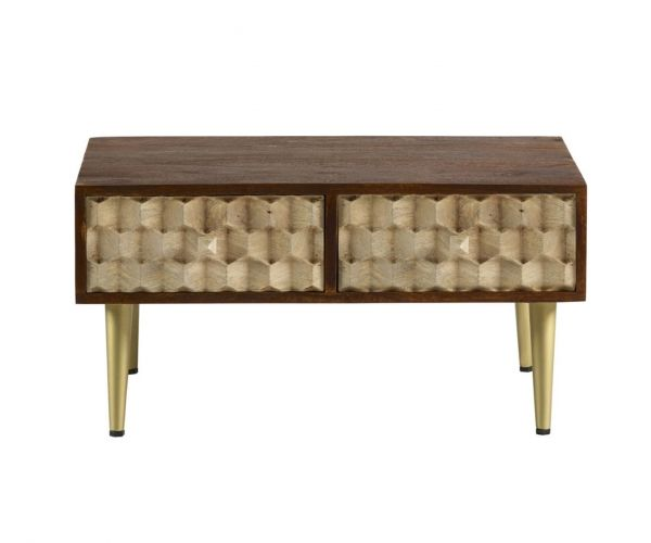 Indian Hub Edison Coffee Table with 2 Drawers