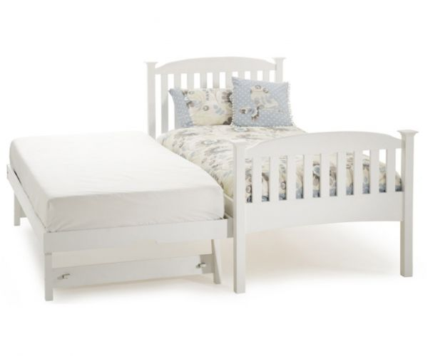 Serene Furnishings Eleanor Opal White High Footend Guest Bed