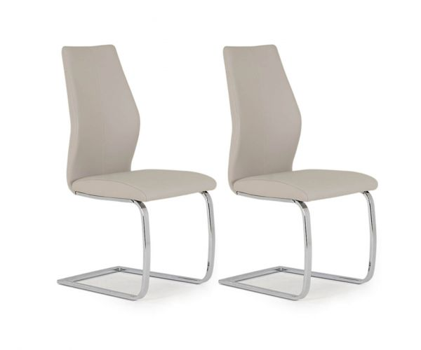 Vida Living Elis Taupe Dining Chair in Pair