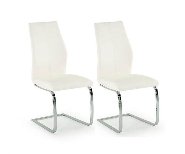 Vida Living Elis White Dining Chair in Pair