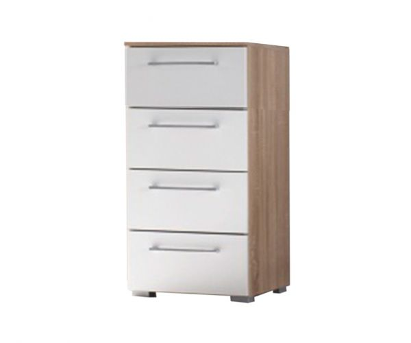 Rauch Ellesse Alpine White Carcase with Alpine White Front 4 Drawer Chest