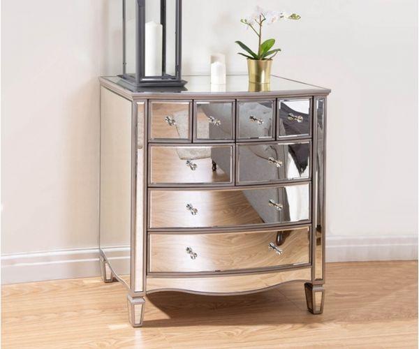 Birlea Furniture Elysee Mirrored Glass Merchant Chest