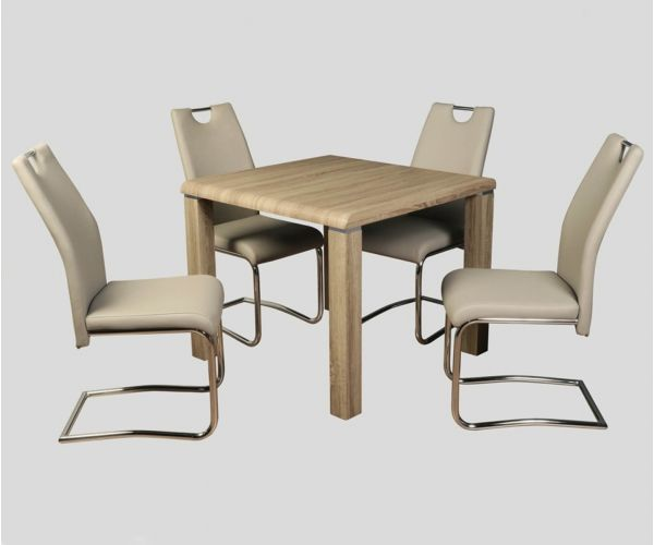 Annaghmore Encore Havana Dining Set with Claren Khaki Chairs