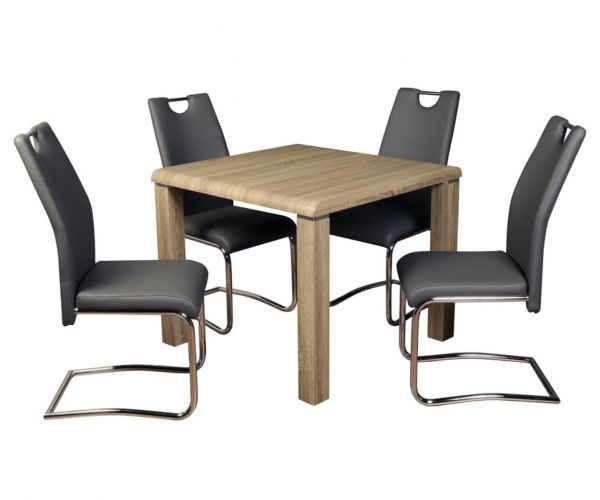 Annaghmore Encore Havana Dining Set with Claren Grey Chairs