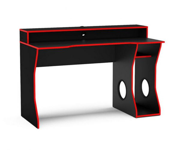 Birlea Furniture Enzo Black and Red Gaming Computer Desk