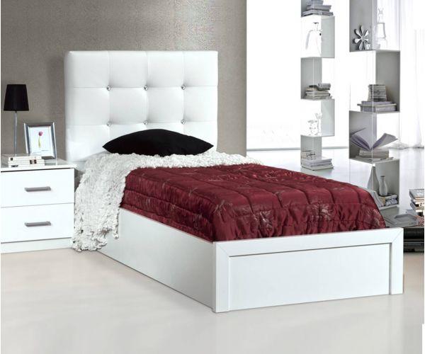 Dima Mobili Eva White Single Bed Frame