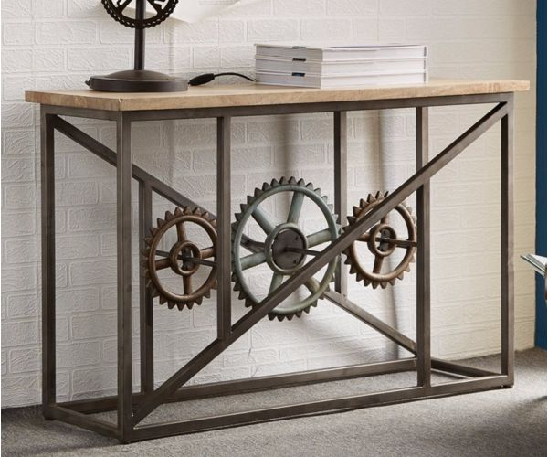 Indian Hub Evoke Console Table with Wheels