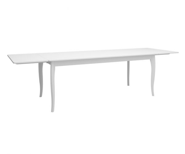 Steens Baroque White Extending Dining Table Only