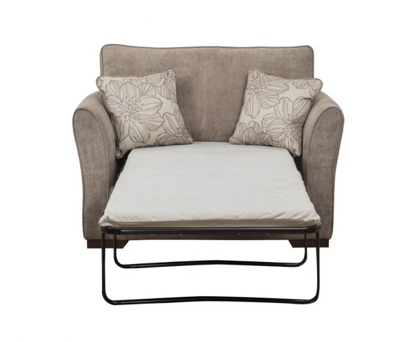 Buoyant Upholstery Fairfield Fabric Chair Sofa Bed 80cm with Deluxe Mattress