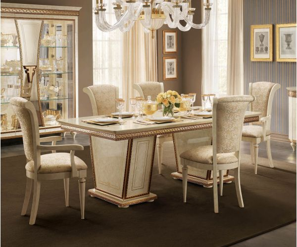 Arredoclassic Fantasia Italian Rectangular Fix Top Dining Table