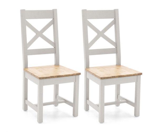 Vida Living Ferndale Cross Back Dining Chair in Pair