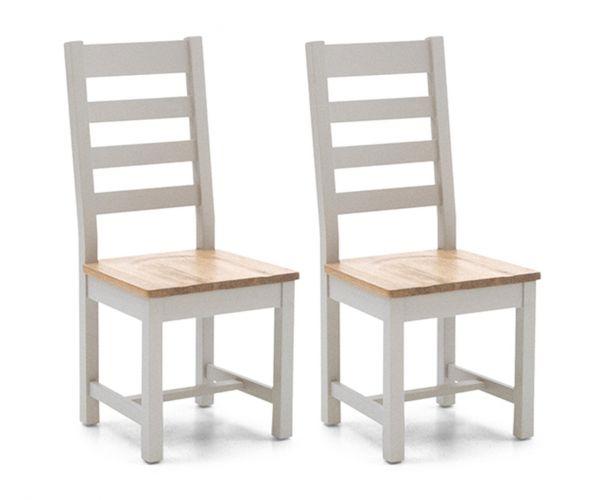Vida Living Ferndale Ladder Back Dining Chair in Pair