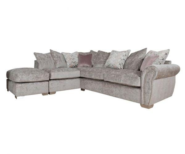 Buoyant Upholstery Flair Pillow Back Corner Chaise Sofa (R2, LFC, P)