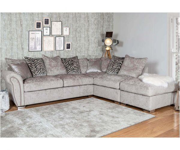 Buoyant Upholstery Flair Pillow Back Corner Chaise Sofa (L2, RFC, P)
