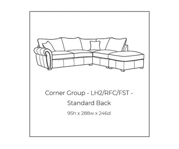 Buoyant Upholstery Flair Standard Back Corner Chaise Sofa (L2, RFC, P)