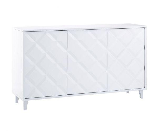 Derrys Furniture Flo White High Gloss 3 Door Sideboard