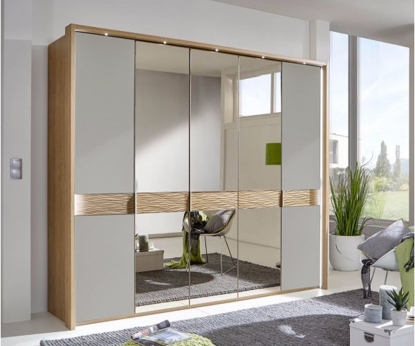 Wiemann Wega Havana Glass with Parsol Bronze Mirror Door Wardrobe