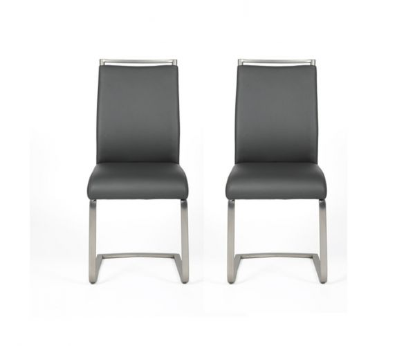 Furniture Line Franklin Grey Dining Chair in Pair
