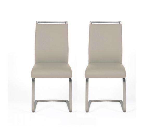 Furniture Line Franklin Taupe Dining Chair in Pair