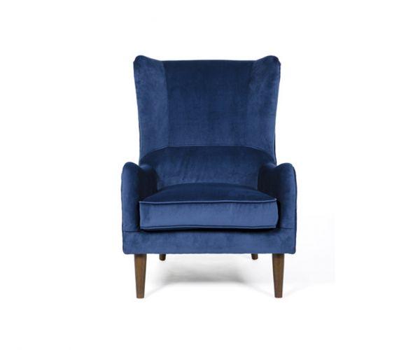 Furniture Line Freya Blue Fabric Accent Chair