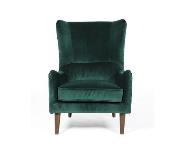Furniture Line Freya Green Fabric Accent Chair