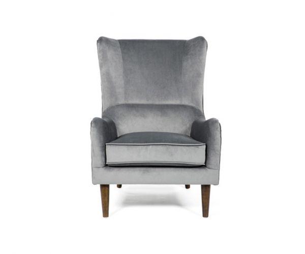 Furniture Line Freya Grey Fabric Accent Chair