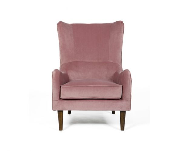 Furniture Line Freya Pink Fabric Accent Chair
